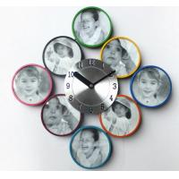 New Arrival for Colorful Metal Picture Frame with Quartz Wall Clock