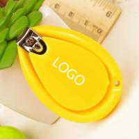 Buy cheap Ladybug drop shaped candy color baby nail clipper 5.5cm PP+stainless logo customized from wholesalers