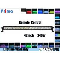 Buy cheap IP67 42 Inch 240w Led Light Bar , RGB Led Halo Light BarWith Remote Control from wholesalers