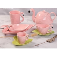 Buy cheap Promotional LFGB Nordic Style Flamingo Tea Set product