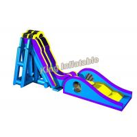 Buy cheap Blue / Yellow Inflatable Water Slide Games Commercial 12 * 4m For Beach from Wholesalers