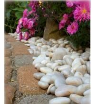 Buy cheap 30-50mm Natural Pebble Stone,White Stone Pebble,Hot White Snow Pebble,Pebble Stone from wholesalers