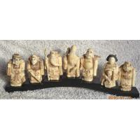 Buy cheap Bone Seven Gods statue bone Seven Gods netsuke bone Chinese Buddha carving from wholesalers