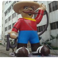 Buy cheap Colored Giant Inflatable Cartoon Characters 6m Inflatable Cowboy With Hat from wholesalers