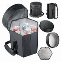 Buy cheap Foldable Custom Insulated Lunch Cooler Bag Seat 600D Polyester Fashionable from wholesalers