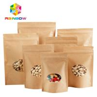 Buy cheap Stand Up Ziplock Kraft Customized Paper Bags With Polyethylene And Clear Window from wholesalers