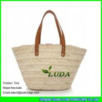 Buy cheap LUDA handmade wicker handbags natural cornhusk straw oversized handbags from wholesalers