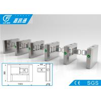 Buy cheap Semi - Auto Access Control Turnstile Gate , Railway Station Vertical Swing Barrier Gate from wholesalers