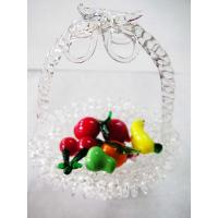 Buy cheap Art Handmade Pyrex Glass Transparent Fruit Basket For Gift , Colored from wholesalers
