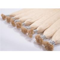 Buy cheap Gold Color 20 Inch Remy Hair Extensions Steam Processed With Full Cuticle from wholesalers