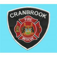 Buy cheap Embroidered Fire-fighting and rescue crest, embroidery fire rescue badges, uniform crests from wholesalers