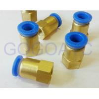 Buy cheap Straight quick brass hose connector 8mm 1/2 PT pneumatic female threaded union fitting PCF 8-04 air pipe joint from wholesalers