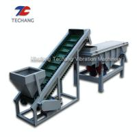Buy cheap Heavy Duty Idler Roller Flat Belt Conveyor For Bulk Cement / Coal / Limestone from wholesalers