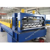 Buy cheap Heavy Duty Metal Roof Tile Roll Forming Machine Touch Screen Control from wholesalers