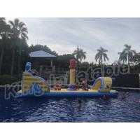 Buy cheap Commercial Floating Kids Inflatable Water Parks With Slide , Customized Color product