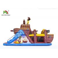 Buy cheap Non - Toxic Outdoor Sports Games Blow Up Obstacle Course  , Durable PVC Pirate Boat from wholesalers