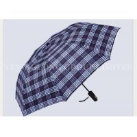Buy cheap Indestructible Adult Casual 2 Fold Umbrella Gold Silk Waterproof England Gird Pattern from wholesalers