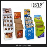 Buy cheap FD-600 folding cardboard heavy duty trapezoid display racks for retail from wholesalers