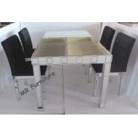 Buy cheap Customized Size Toughened Glass Dining Table, Home Mirrored Dining Furniture from wholesalers