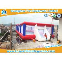 Buy cheap 0.55mm Tarpaulin Inflatable Football Pitch Bubble Pitch With Netting from wholesalers
