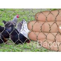 Buy cheap Stainless Chicken Wire Fabric For Rabbit Protection , Low Carbon Steel Chicken Yard Fence product