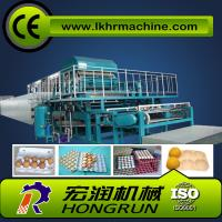 Buy cheap 4000pcs/h 8 sides rotary type automatic egg tray machine with 6 layer drying line from wholesalers