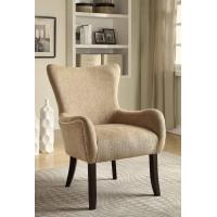 Cream Upholstered Dining Chairs , Padded Kitchen Chairs  With Sturdy Birch Legs