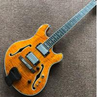 Buy cheap wholesale and retail Big John new natural F hollow electric guitar from wholesalers