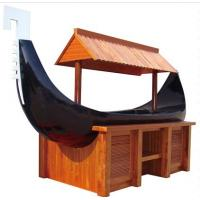 Buy cheap Boat Shaped Commercial Buffet Equipment Mahogany Made Refrigerated Sushi Buffet Counter from wholesalers