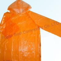 Buy cheap disposable raincoat /plastic raincoat/rain poncho from wholesalers