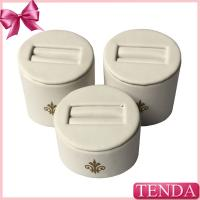 Buy cheap Mini Smaller White Leather Sing Double Rings Jewelry Jewellery Stores Displaying from wholesalers