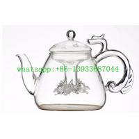 Buy cheap customed size  hand made Double-Walled Borosilicate Glass Teapot from wholesalers