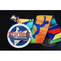 Buy cheap Star Logo Round Shape And Dancing Despoke Custom Sports Medals With Glitters Colors from wholesalers