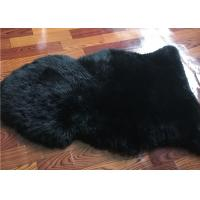 Buy cheap Dyed Black Sheepskin Fleece Blankets Soft Warm For Children Room Bed Decoration  from wholesalers