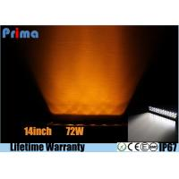 Buy cheap 14 Inch 72W Remote Control Light BarAmber White Strobe Flash IP67 Waterproof from wholesalers
