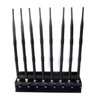 Buy cheap Adjustable 8 Antennas High-power Cell phone 2.4G 5.8G 5.2G Wifi Jammer Signal Blocker from wholesalers