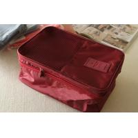 Buy cheap Red Large Size Travel Packing Organisers Inner Net Pocket Embroidery Printing from wholesalers