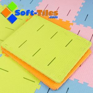 China EVA anti-slip foam bath mat non-toxic , anti-slip design with borders and without borders on sale