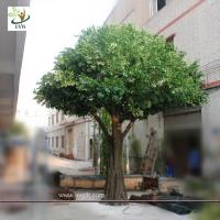 Buy cheap UVG Artificial green christmas decoration tree with silk leaves for festival landscaping from wholesalers