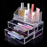 Buy cheap Non-toxicity Acrylic Cosmetic Display / Portable acrylic makeup box product