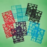 Buy cheap Plastic Stencils Assorted Designs (pack of 10) from wholesalers