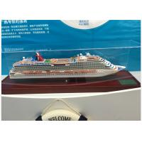 Buy cheap Scale 1:900 Outdoor Decoration Carnival Dream Cruise Ship Model With Alloy Diecast  Anchor Material from wholesalers