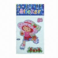 Buy cheap Characters laser stickers/adhesive stickers, various designs and sizes are available, eco-friendly from wholesalers
