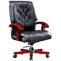 Buy cheap medium back solid wood office manager chair furniture from wholesalers
