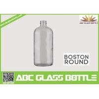 Buy cheap 8oz Boston Round Glass Bottle With Screw Cap Clear Color product