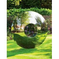 Buy cheap Stainless Steel Circle Sculpture As Lawn Decor , Wonderful Large Outdoor Sculpture from wholesalers