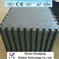 Buy cheap High density recycled gym interlock rubber floor tiles with colored flecks 500*500mm from wholesalers