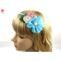 Buy cheap Beautiful Hair Accessories Blue Metal Flower Girl Hair Bands With Bows product