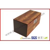 Buy cheap Brown Food Grade Cigar Gift Paper Box  with Tissue Paper Printed from wholesalers
