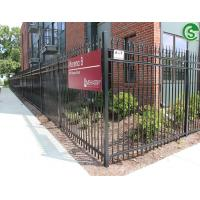 Buy cheap pedestrian walk 3 rail fence panels ornametal picket fence with post from wholesalers
